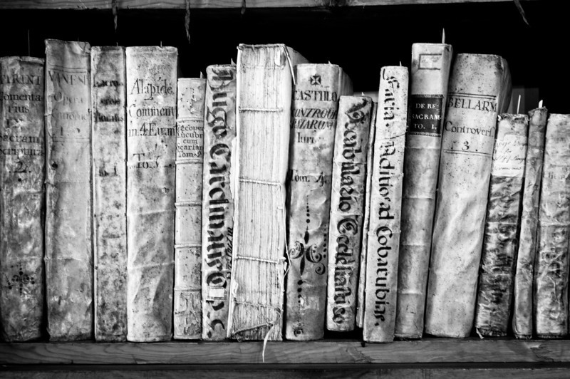 Old books on a shelf - Andorra
