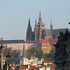 The Prague Castle towering above the city - Prague, Czech Republic