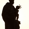Statue silhouette in Prague, Czech Republic