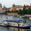 Boats Take Over The Vlatava River in Prague, Czech Republic