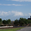 Mt. Ararat looms on the skyline west of Echmiadzin.