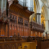 The woodwork and finish of the choir is extraordinarily beautiful,