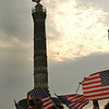 American Flags at Siegessaule at Obama's Speech - Berlin, Germany