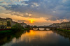 Sunset over the Ponte alla Carraia