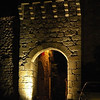 Gate of Montpeyroux by night (exterior)
