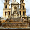 San Sulpice Fountain in the rain Paris, France January 2011