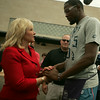 KD meets Gov. Fallin at Plaza Towers playground