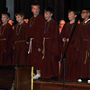 "The Astrologer's/King's (Peyton Rose, David Scheck, Nathan Brekel, Brock Burckholder, Andrew Frank and Moises Rivas) perform ""Astrologer's Three are We,"" during Saint Anthony Catholic School's presentation of ""The Mystery of Simon Shepherd,"" Thursday, Dec. 12, 2013."