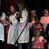 "The three Shepherdess' (Skye Kind, Claire Swan and Maleena Crouch) say their lines during Saint Anthony Catholic School's presentation of ""The Mystery of Simon Shepherd,"" Thursday, Dec. 12, 2013."