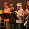 "Sterling Middle School sixth graders perform ""Jolly Old St. Nicholas"" on their recorders, during a Guitar and Recorder Recital, Thursday, Dec. 12, 2013."