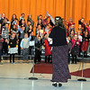 "The Caliche kindergarten, 1st, 2nd, 3rd and 4th Grade Singers perform ""Christmas Time is Coming,"" under the direction of Janelle Nicolaus. That was just one of several songs they performed during their ""Twas One Crazy Night Before Christmas!"" program, Monday, Dec. 9, 2013."