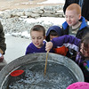 "The Overland Trail Museum's Presidents Day program included a ""recreation"" of George Washington's Delaware River crossing, where the children had to use a spoon to try to get the boat across a tub of icy water to the other side."