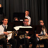 Members of the Sterling High School jazz band prepare to begin their performance, during the SHS Bands Winter Concert, Monday, Dec. 16, 2013.