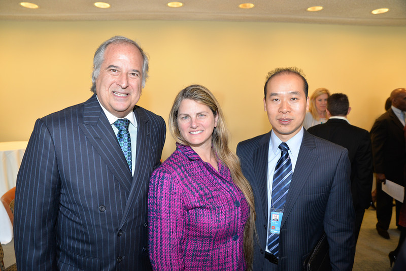 DSC_9741--Stewart Lane, Bonnie Comely, Wang Gang Chinese UN Mission Chief Press Officer