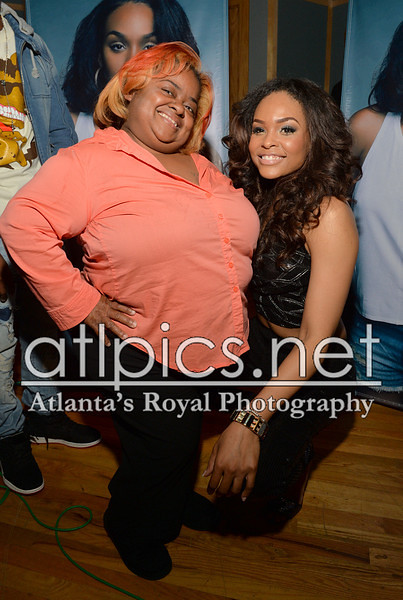 Demetria McKinney and juicy attends her 'Officially Yours' Listening Session at Tree Sound Studios on April 14, 2014 in Norcross, Georgia.