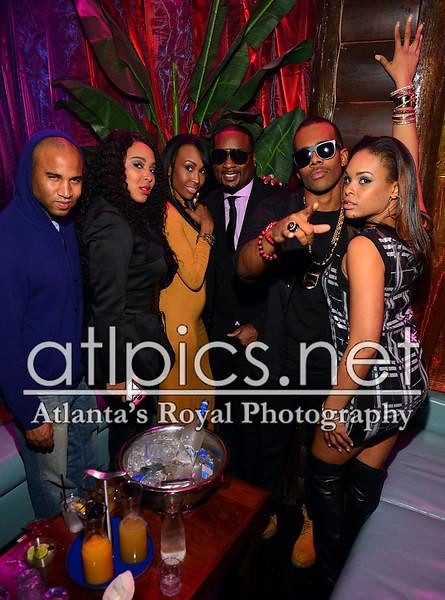 Jam Poet, Aaliyah, Devyne Stephens, Mario & Demetria McKinney at R. Kelly's birthday bash at Havana Club on January 21, 2013