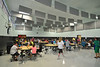 Weber City Elementary students eat lunch in the school's newly refurbish cafeteria. Photo by David Grace