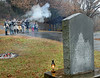 Honor Guard fires a volley during Battle of Kingsport Ceremony with the monument to the battle in the foreground. Photo by Ned Jilton II