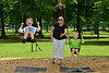 Janice Wingert plays in Borden Park Friday with her sons Gabriel, left and Hudson. Photo by David Grace