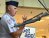 Cadet Technical Sargent Matthew Donohoe with the Dobyns-Bennett Air Force Jr. ROTC demonstrates some for the drill done in ROTC. Photo by Ned Jilton II The Fifth Annual Back to School Expo at the Kingsport Town Center Tuesday afternoon included more than 90 vendors and exhibitors for parents and guardians of Kingsport City Schools students. <br /> Parents/guardians could pick up all of the information needed to get their child or children started back to school. They will also have the opportunity to sign them up for programs and activities for things to do this fall located throughout Kingsport.  <br /> Various stores within the mall offered discounts during the event.<br /> Vendors ranged from Kingsport City Schools services and school programs; health, nutrition and safety related services; animal welfare/pet adoption; fiancé for college; tutoring, library/literacy programs; pre-school programs; wellness activities; arts, sports and recreation activities; children's services and various other vendors providing interactive activities, demonstrations and prizes.