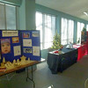 The charities have their displays in place.
