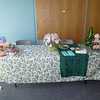 Food pantry table.