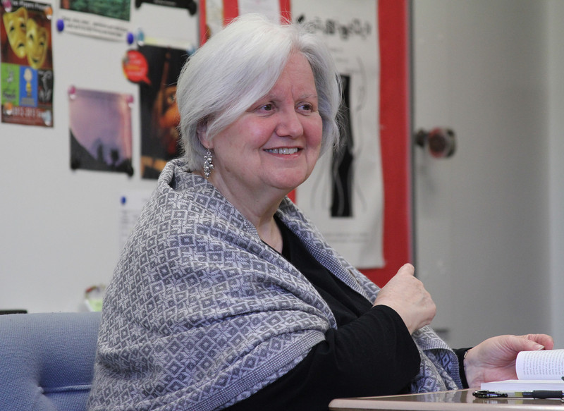 Charleen Klister teaches an 11th-grade American Literature class at St. Pius X High School, Atlanta. Klister, who is in her 50th year as an educator, also teaches a writing class.   (Page 22, February 14, 2013 issue)