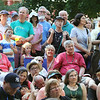 2014 Lowell Folk Festival. Crowd at Market Street Stage listens as the Sean Keane Band with dancer Kevin Doyle perform Irish music and dance. (SUN/Julia Malakie)