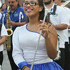 2014 Lowell Folk Festival. Tatiana Carcamo, 15, of Boston, marches with Boston Banda de Paz, an El Salvadoran marching band leading the parade to Boarding House Park. (SUN/Julia Malakie)