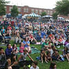 2014 Lowell Folk Festival crowd at Boarding House Park Friday night. (SUN/Julia Malakie)