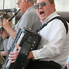 2014 Lowell Folk Festival. Bud Hundenski on accordion, & the Corsairs including Chuck Pendrak on clarinet, play polka music at JFK Plaza.  (SUN/Julia Malakie)
