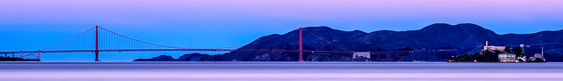 Early Morning - Golden Gate and Alcatraz