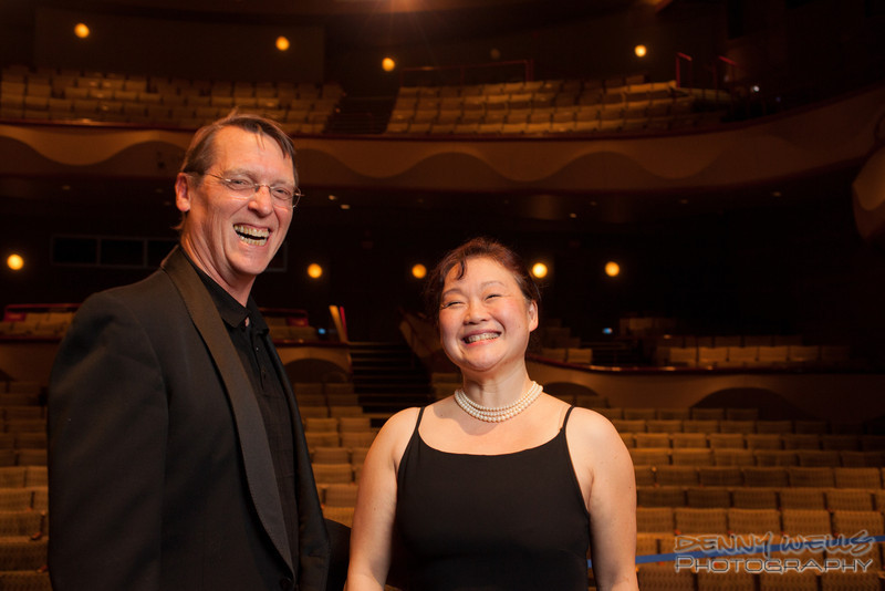 AO Tosca Chorus director Mari Hahn, and Assistant Conductor / Accompanist Richard Gordon