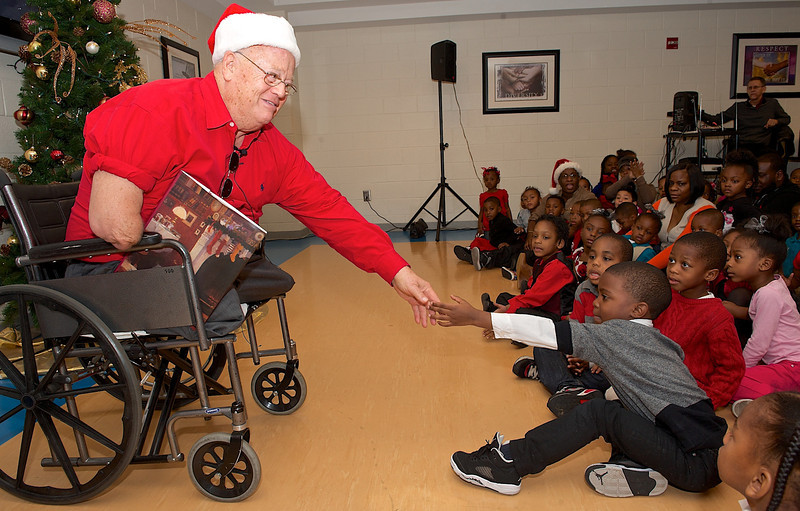 Linda Dean, Dr. Young, Ambassador Young, Former US Senator Max Cleland, Mayor Reed, Bernice King and others celebrate Xmas with kids at Walter & Andrew Young YMCA.
