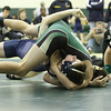 With a technical pin against Joseph Twiner of St. Pius X High School, Atlanta, Kyle Evans of Blessed Trinity High School, Roswell, won the match 18 – 3.