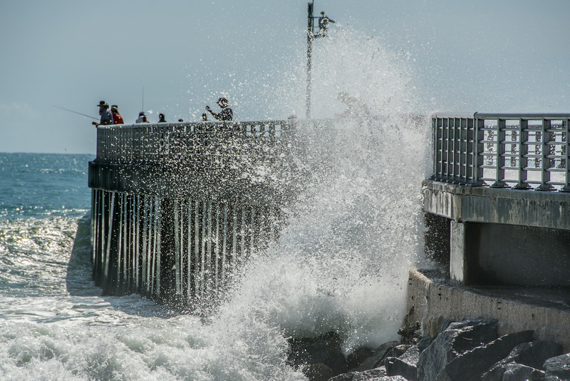 • Location - Sebastian Inlet State Park North Jetty<br /> • Waves hitting the north jetty