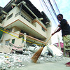 Debris from building after Cebu-Bohol earthquake