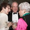 (L-r) Kathy and Quentin Van Meter converse with Mason Smith during the Cathedral of Christ the King gala reception.