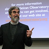 Jesuit Brother Guy Consolmagno, an American astronomer and planetary scientist at the Vatican Observatory, speaks to an audience at Emory University's Candler School of Theology on Galileo's birthday, Feb. 15.