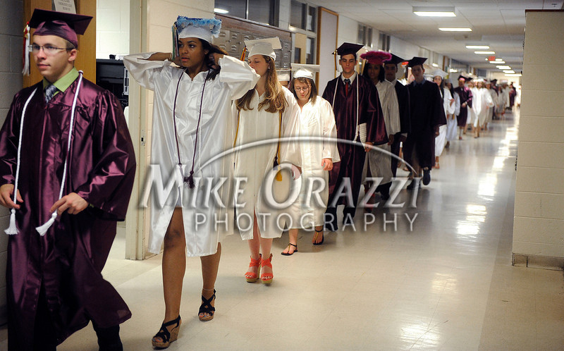 6/25/2013 Mike Orazzi | Staff Bristol Central High School graduates at Bristol Central on Tuesday night in Bristol.