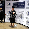 5/17/2014 Mike Orazzi | Staff<br /> CCSU student Amanda Cunningham during Saturday's graduation ceremony at the XL Center in Hartford.