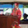 6/27/2014 Mike Orazzi | Staff<br /> New Britain High School Valedictorian Krystian Koszykowski during Friday's graduation ceremony at New Britain Stadium.