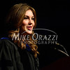 5/17/2014 Mike Orazzi | Staff<br /> Miss USA Erin Brady, a CCSU 2010 graduate, gives the commencement address during Saturday's graduation ceremony at the XL Center in Hartfo