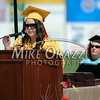 6/27/2014 Mike Orazzi | Staff<br /> New Britain High School Salutatorian Katarzyna Krolak during Friday's graduation ceremony at New Britain Stadium.