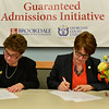 Brookdale Community College and Georgian Court University signed an agreement that allows Brookdale students to go on to GCU with a tuition discount. /Russ DeSantis Photography and Video, LLC