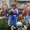 "Tyler sitting with the Scarecrows ""Halloween 2009"""