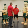 Blessed Trinity H.S. mascot training