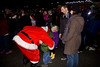 CP Rail Holiday Train comes to Port Coquitlam, Santa with Annabelle and Darragh Whitehead of Coquitlam