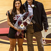 Homecoming queen, Apolonia Calleja, and king, Jazz Bozner, were crowned at the Spirit Rally on Oct. 3 in the Armstrong Gym. (Miranda Wieczorek/ Chadron State College)