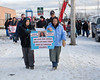 Rachel Chakasim and her grandson Brady (12) lead a memorial walk in Moosonee in honour of Rachel's sister Josephine Chakasim. Josephine was last seen on April 22, 1977 and her body was found along the tracks just south of Moosonee the following day. Her murder remains unsolved.